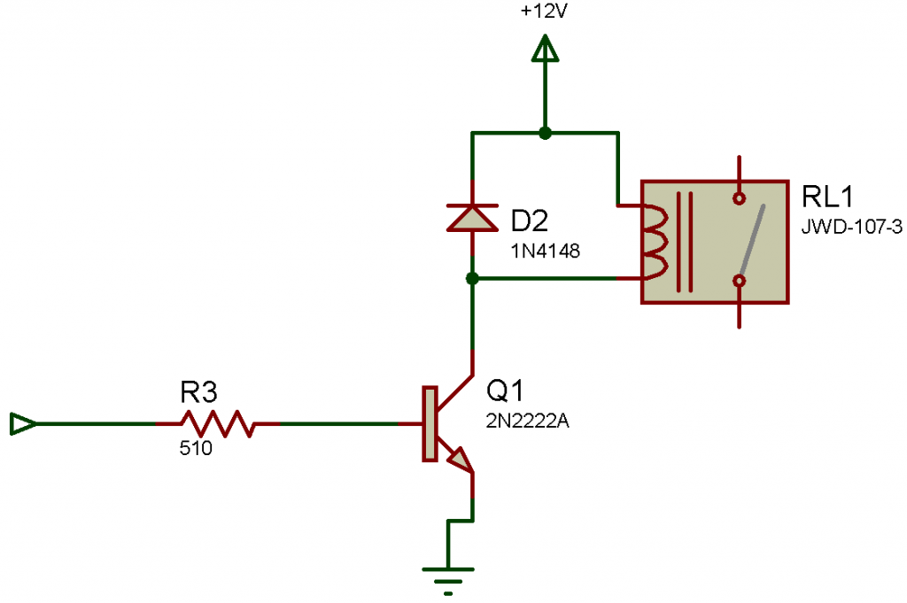 Transistor reed relay driver